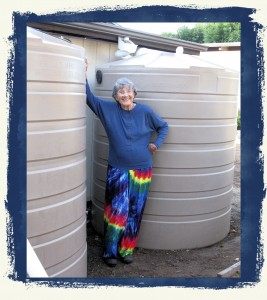 a green business installs rainwater tanks