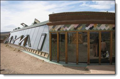 sustainable housing made from recycled materials
