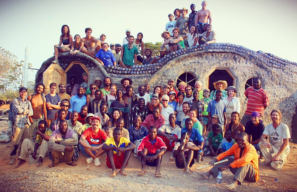 An Earthship Sustainable Community Center in Malawi